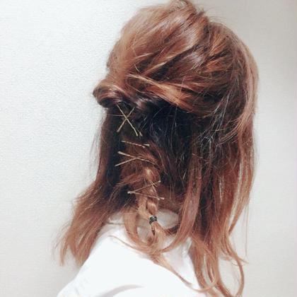 hairarrange★ くるりんぱで、編み込んでピンでとめっ! いつもセルフでarrangeしてます! quarterresort所属・大谷奈々子のスタイル