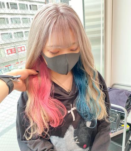 🍓メニューが分からない方用🍓 💕ハイブリーチカラー💕+💕ツヤツヤ髪質改善💕 ツヤ髪ハイトーンが綺麗の秘訣💗
