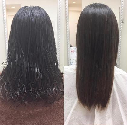 パーマに飽きてしまったというお客様🐩 縮毛矯正でサラツヤの触りたくなるような髪に大変身✨✨