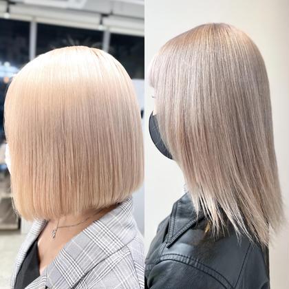 【切れ毛、枝毛98%cut✨】ケアダブルカラー ケアブリーチ+ケアカラー+ナノトリートメント🌸