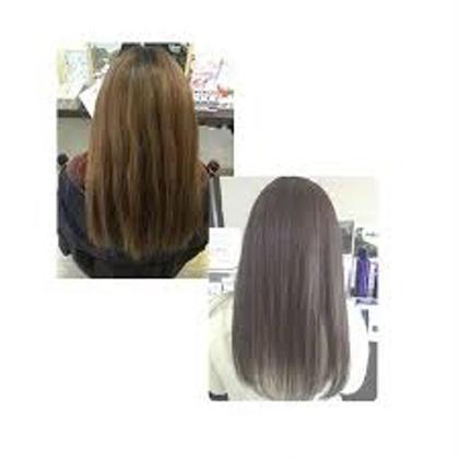 Before After 渡邊未来のロングのヘアスタイル