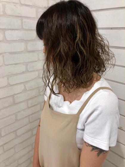 ✨似合わせカット+スロウカラー+ゆるふわパーマ+潤いトリートメント✨