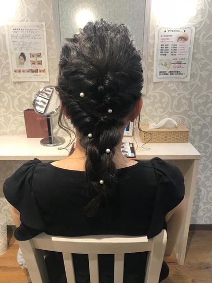 高田ひなこのヘアアレンジ