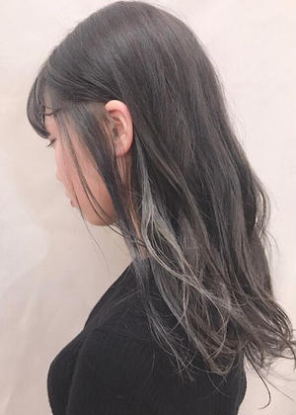 インナーカラー🍊🌿+styling