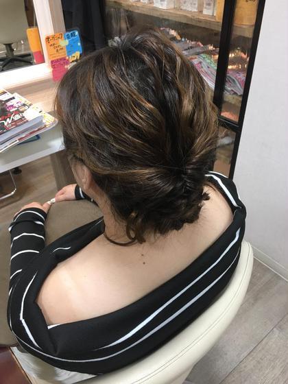 いつもと違う雰囲気で…♪ 福岡正美のロングのヘアスタイル