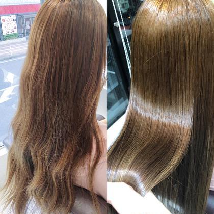 🦄ブリーチ毛、ハイダメージの方専用✨髪質改善酸熱トリートメントストレート🦄✨¥20000→¥8800