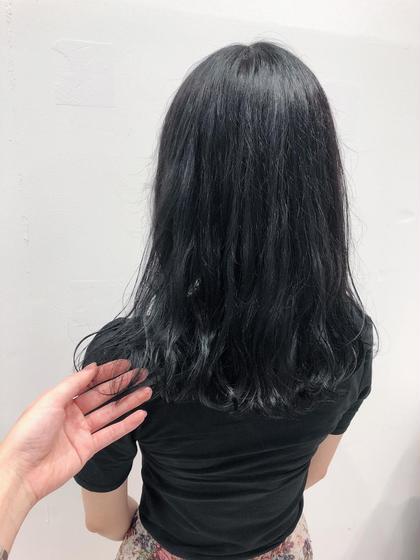 🧡学生さん限定👨🎓👩🎓黒髪戻しカラー+トリートメント💛落とせる黒染めカラーなので 明るく戻せます✨