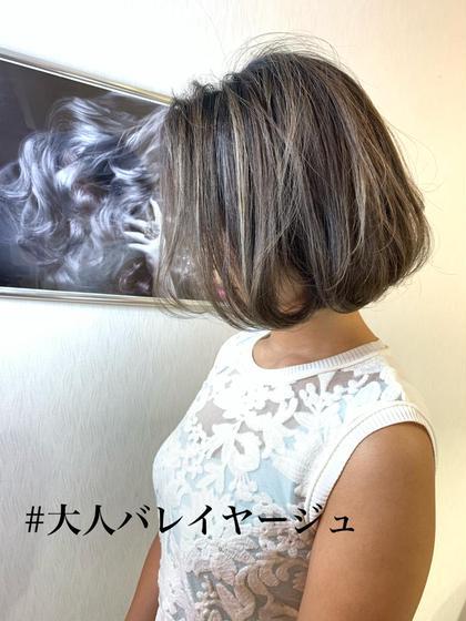 【❤️繊細で大人気エアタッチバレイヤージュコース❤️】カット+バレイヤージュ+AUJUA.tokioトリートメント☆