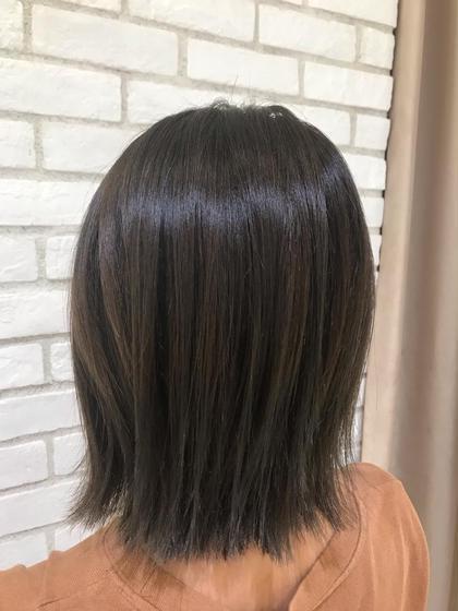 髪質改善酸熱トリートメントカラー