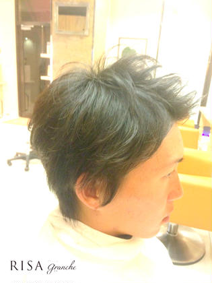 ナチュラルパーマ スタイリッシュカット  WAX仕上げ  kazuカット RISA hair design所属・内瀬戸雄将のスタイル
