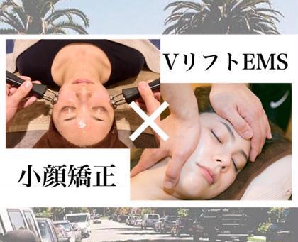 【人気急上昇!】骨格と筋肉をWでアプローチ♪《小顔矯正×小顔EMS/75分/7,700円》