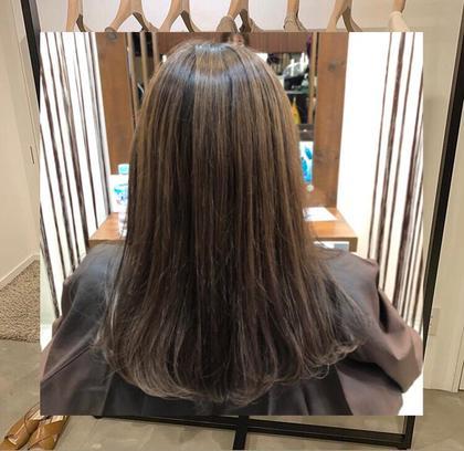 🍋夏カラー+艶トリートメント+前髪カット