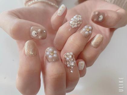 オフなし hand  nail やり放題(カラー何色でもOK、パーツつけ放題)