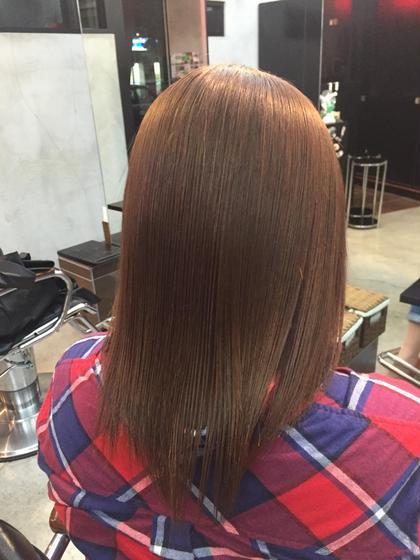 ダメージ毛の方でも、なるべくダメージを出さないように縮毛強制できます(※その方の髪質、状態によります) ジャルダン所属・airi❤︎のスタイル