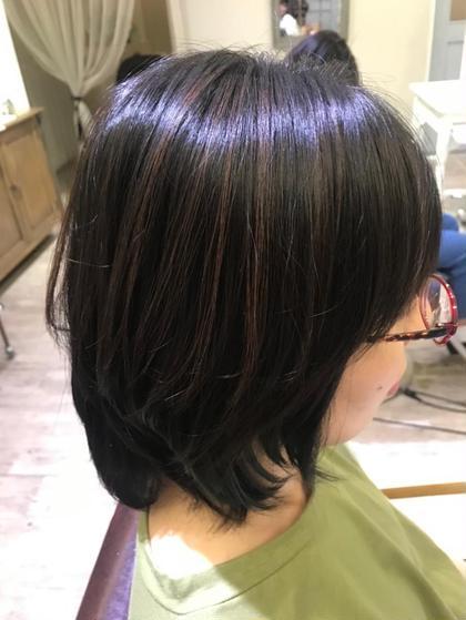 ハイライト×髪質改善カラー