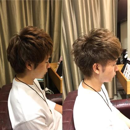 長さはそれほど変えずに 動きを出しやすいカットラインです!(^-^)  カラーは シルバーアッシュです!(^ν^) 和田魁のメンズヘアスタイル・髪型