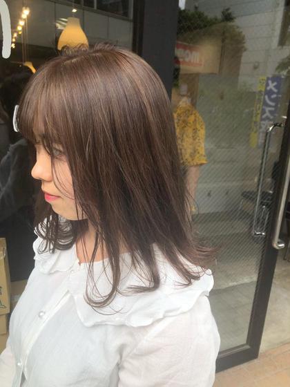 🌿人気No.1🌿前髪カット&透明感カラー&ケアトリートメント