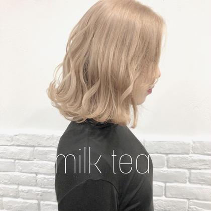 カラー ミディアム  milk tea❤︎