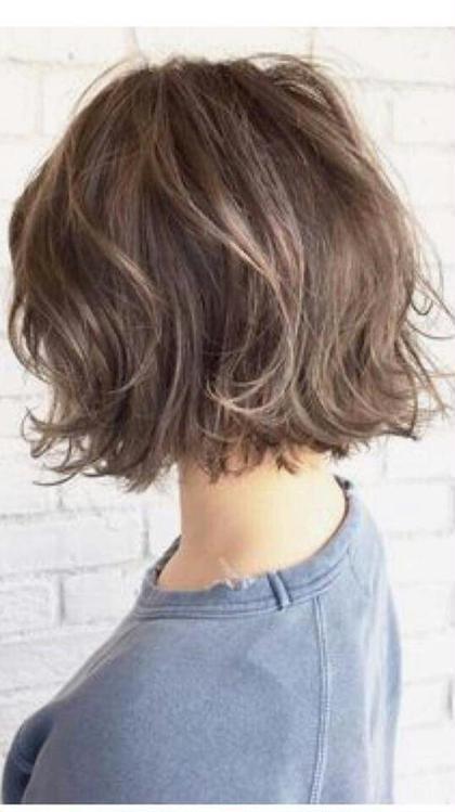 外ハネボブ♥  Ashグレージュで夏先取りスタイル♥ たかばやしひろこのヘアスタイル・ヘアカタログ