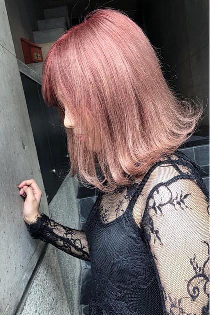 カラー ミディアム ピンクアッシュ❤️ ⭐︎photo  担当スタイリスト  AKI☆⭐︎ ⭐︎instagram →  @aki.0218⭐︎