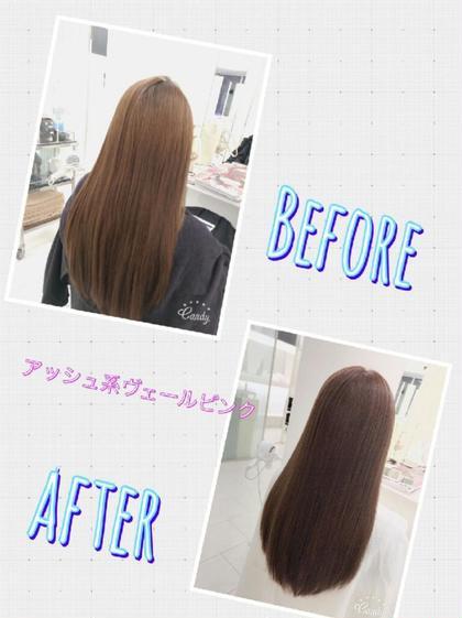 ✨✨✨ヴェールピンク✨✨✨ 暗くもしたくないけど、艶を出したい方‼ オススメのカラーになります!  乾かしただけでこのまとまり、サラサラ‼ オススメのトリートメントをしただけです! Michio Nozawa Hair S所属・宮崎洋輔のスタイル