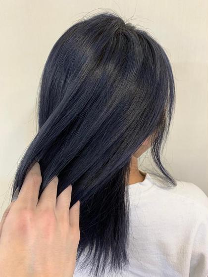 カラー ミディアム wcolor / navy blue✂︎ ベース.黒染め