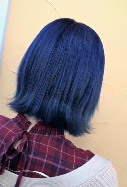 ・ブリーチあり ・デニムカラー 色落ちも綺麗なブルー系!! HAIR&MAKE AXIS所属・小野 厚稀のスタイル