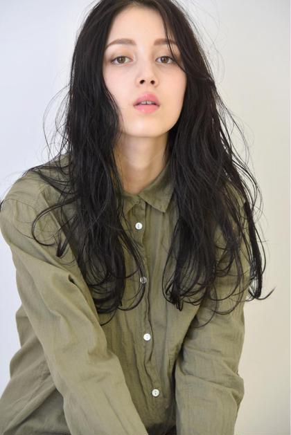 黒髮ロングでも扱いやすくナチュラルな仕上がりに C-LOOPUNITEDKASHIMADA所属・上原巧大のスタイル