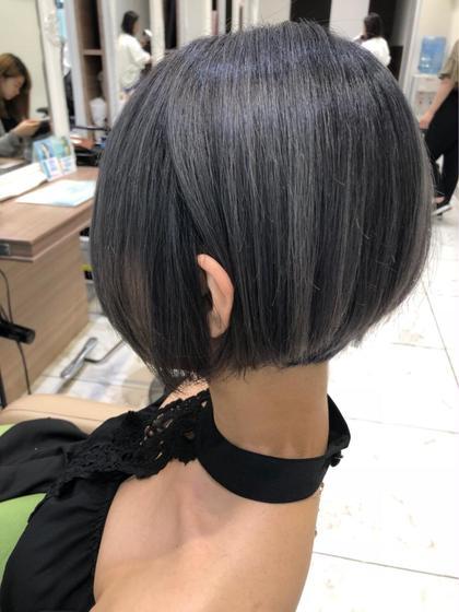 ブリーチ3回以上必須  店長、カラー認定講師清野大のショートのヘアスタイル