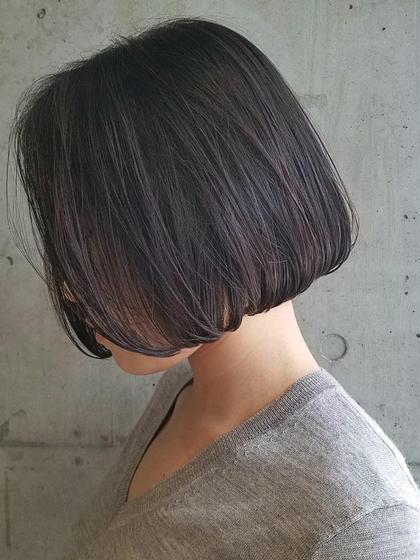 顎ラインのシンプルボブ/シンプルなボブスタイルほどカットが大切になります髪質、骨格、顔型に合わせてその人にベストなレングスを見定めて似合わせてカットします Sourire Akasaka所属・半個室型美容室☆赤坂店のスタイル