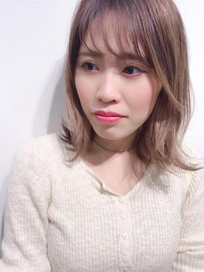 【韓国風シースルーバング】  薄めのアシメバングで可愛く小顔に♪   インスタグラムで、その他スタイル更新してます。 気に入ったスタイルは保存しておいてもらうと カウンセリングがスムーズです☆  instagram→@hayatoniwa