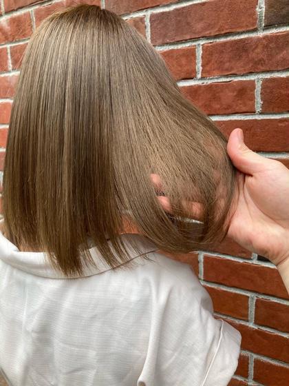 ✨本当に髪を痛ませたくない方限定✨❣️ダメージレスケアブリーチダブルカラー+ソヴァールトキオトリートメント❣️