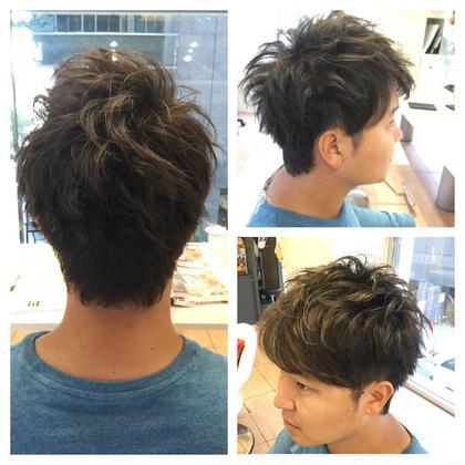 ✨New2Dショート✨ 骨格に合わせたかっこよく、スタイリングしやすいヘアスタイルを意識してます⭐️ ルルディGINZA所属・ハツヤマジュンイチのスタイル