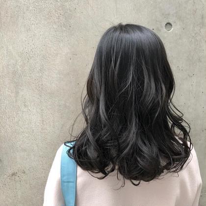 ✂︎透明感と抜け感バツグンの暗髪カラー✂︎