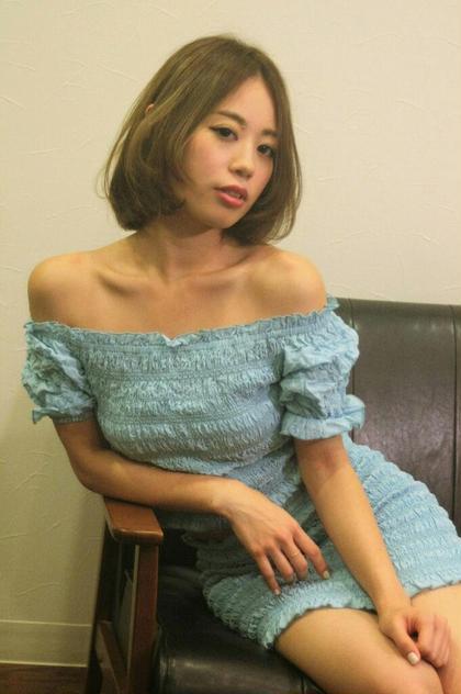 大人カワイイ抜け感のあるひし形ボブ☆ THETA 所属・yoshida ☆のスタイル