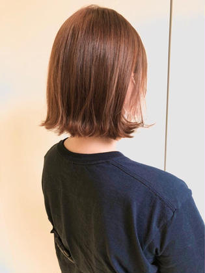 ✂️ロングからボブへのバッサリカットお任せ下さい✂️『似合わせカット+透明感ワンカラー+髪質改善生トリートメント』