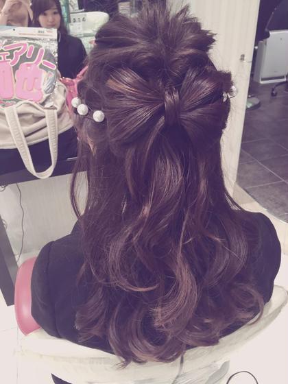 #パーティーヘアセット HAIR MAKE EARTH 流山おおたかの森店所属・渡邉茜のスタイル