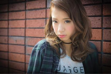 ヌーディーアッシュベージュ☆ ミディアムスタイル☆ LOUIMADNA栄店所属・NARUOKAHIDEHITOのスタイル