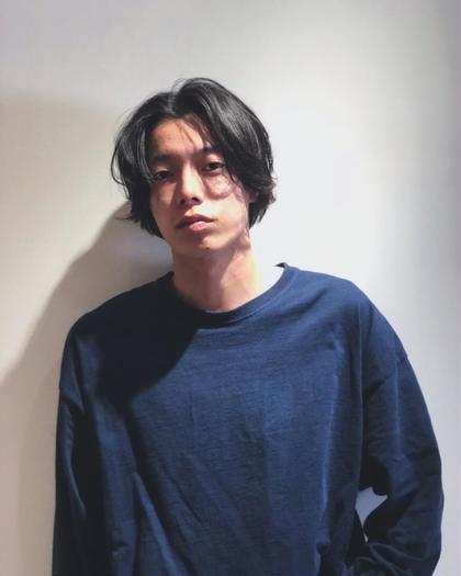 センターパート 工藤靖也のメンズヘアスタイル・髪型