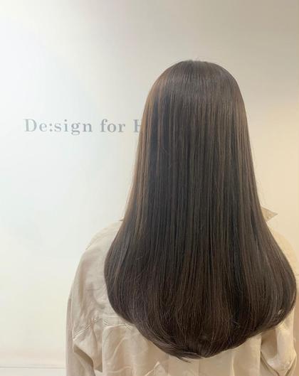 【アディクシー】¥4,000円  ☆グレージュ  ブリーチなし De:sign for Hair所属・いしざきのぞみのスタイル