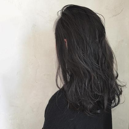 セミロング 暗髪!!  最近オーダーが多いです♡ 黒染めは使ってません!  詳しくはmoeriまで!!