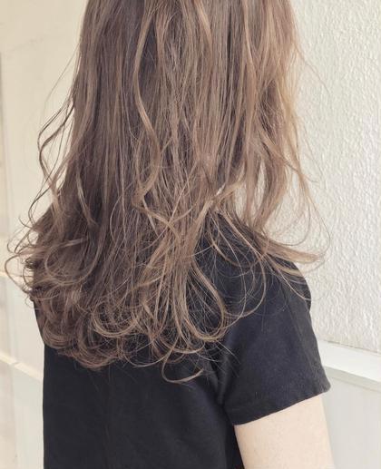 抜け感カットと秋おすすめココアベージュ。 Musiiikhairのセミロングのヘアスタイル