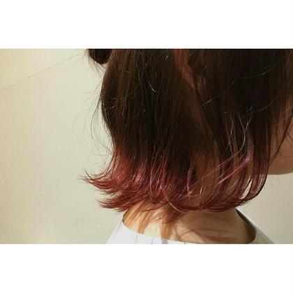 毛先カラーの外ハネ◎ NAP hair所属・佐藤杏丸のスタイル