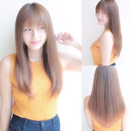 シルクのような手触りの、大人可愛いストレートスタイルです♪誰もが憧れる、サラサラツヤツヤで、ナチュラル系の王道スタイル♪ローレイヤーのスタイルで、セニングとスライドカットで重くなりやすいローレイヤーでも、まとまりのあるスタイルになります hair dressing EXIA所属・えたぬのスタイル