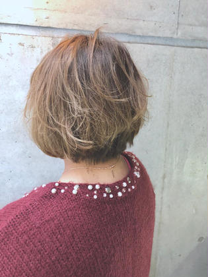 似合わせカット+最旬透け感カラー