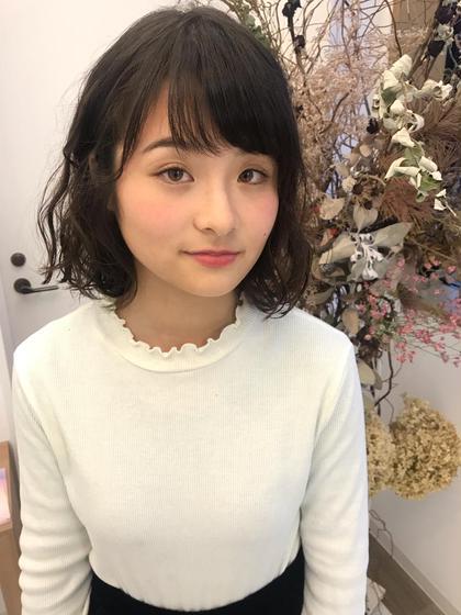 前髪カット+コテ巻き