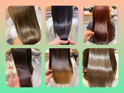 🏆不動の一番人気🌈革命⭐️奇跡の髪質?⭐️髪質改善トリートメント&艶カラー&似合わせカット!