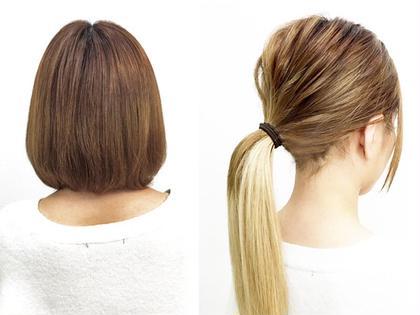 仕事や学校で髪を結んでも、編み目やシールを見えないつけ方もできるんです🎵スタッフにお気軽にお申し付けください🌟