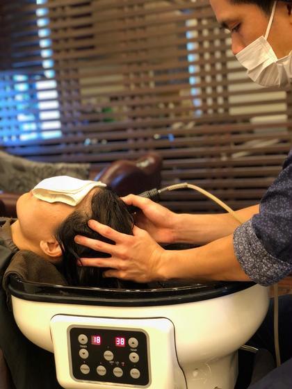 髪質改善ヘッドスパ✨  髪と頭皮にしっかり水分を補給しながら 頭皮の詰まりをスッキリさせます😊