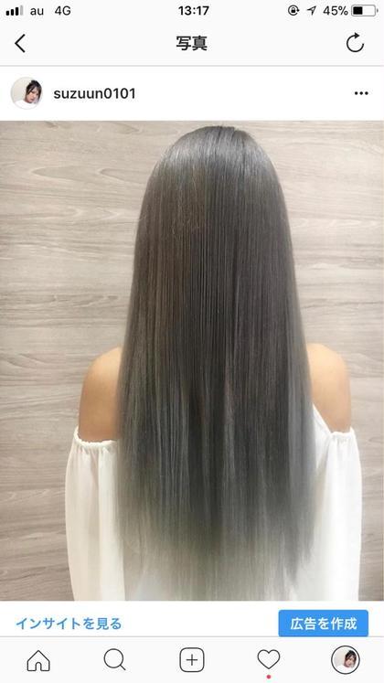 当店のエクステであれば 一緒に染める事できるので 馴染み抜群です♡ 小林紗香のミディアムのヘアスタイル